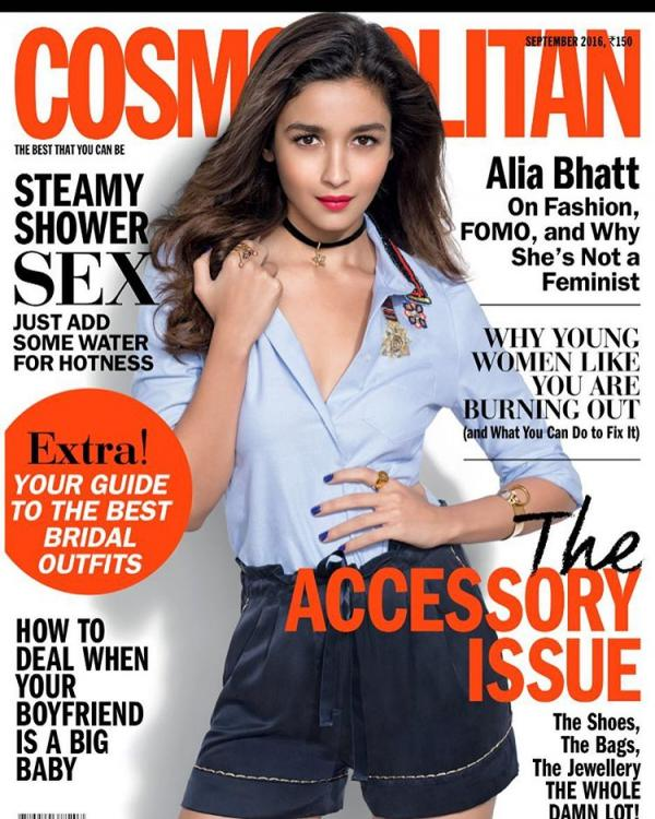 Alia Bhatt on Cosmopolitan September issue