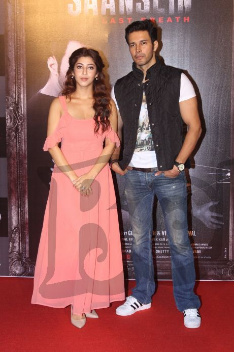 sonarika-bhadoria-and-rajneesh-duggal-at-the-trailer-launch-of-saansein-the-last-breather
