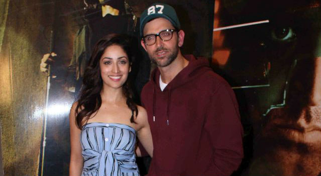 Hrithik Roshan and Yami Gautam at film Kaabil's media interaction