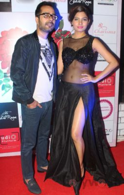 Fashion Designer Ashfaque Ahmed with her Showstopper Avani Modi walks the ramp at The White Room, Andheri.