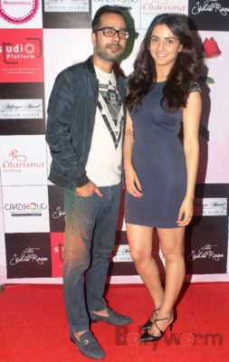 Jasmin Bhasin with fashion designer Ashfaque Ahmed at The White Room, Andheri.
