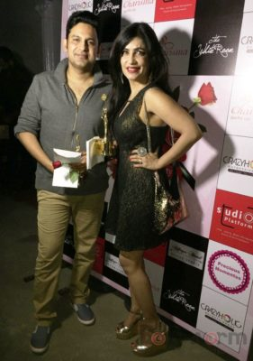 Manoj Muntashir & Shibani Kashyap at Fashion Designer Ashfaque Ahmed's fashion show held at The White Room, Andheri