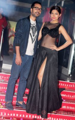 Showstopper Avani Modi walks the ramp with fashion designer Ashfaque Ahmed at The White Room, Andheri.