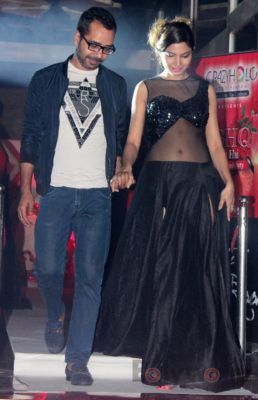 Showstopper Avani Modi walks the ramp with fashion designer Ashfaque Ahmed at The White Room, Andheri.2