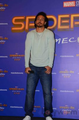 Tiger Shroff and Spider-Man Homecoming Press Meet_Bollyworm (15)