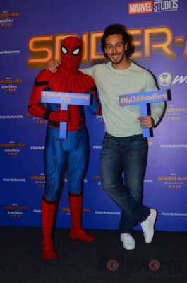 Tiger Shroff and Spider-Man Homecoming Press Meet_Bollyworm (18)