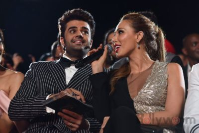 Manish Paul and Lulia Vantur at IIFA Rocks (24)