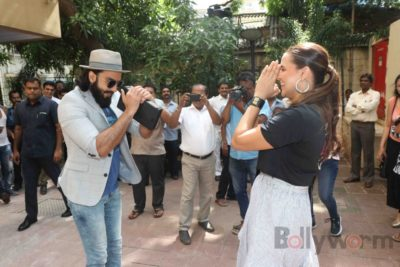 Ranveer Singh and Neha Dhupia record for NoFilterNeha season 2_Bollyworm (11)