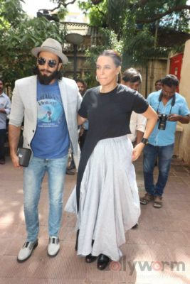 Ranveer Singh and Neha Dhupia record for NoFilterNeha season 2_Bollyworm (13)
