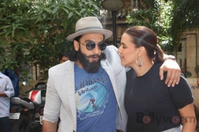 Ranveer Singh and Neha Dhupia record for NoFilterNeha season 2_Bollyworm (15)