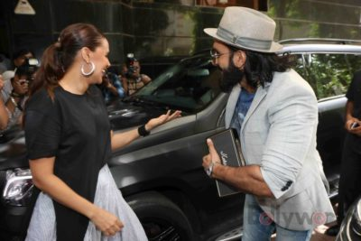 Ranveer Singh and Neha Dhupia record for NoFilterNeha season 2_Bollyworm (4)
