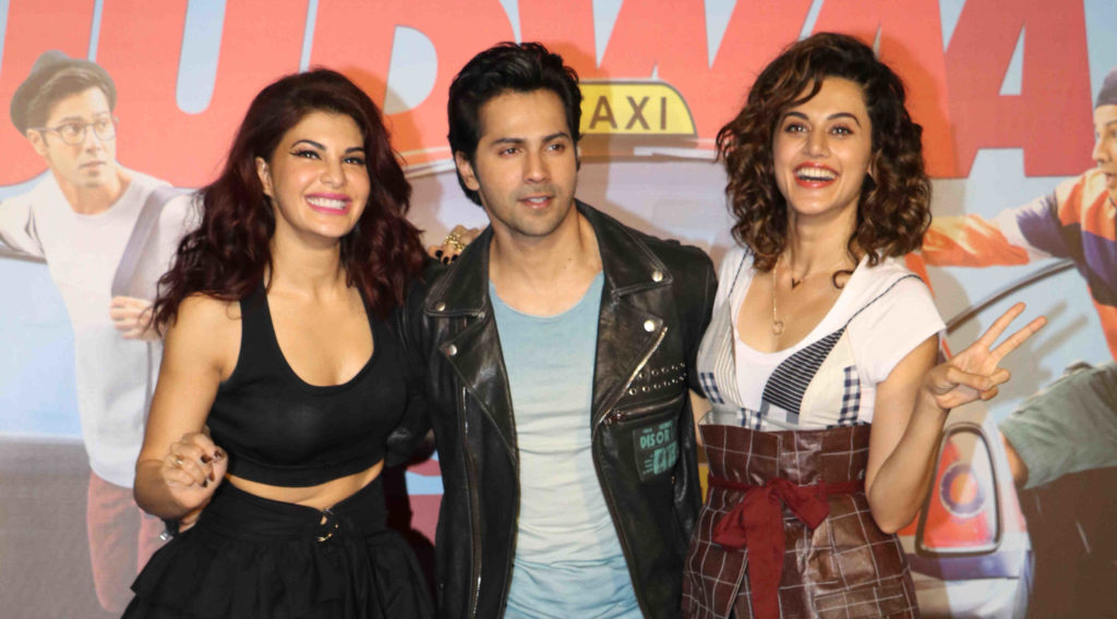 Varun Jacqueline & Taapsee Launch The Promo Of Judwaa 2