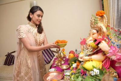 TV actors celebrate Ganesh Chaturthi at their home!_Bollyworm (9)