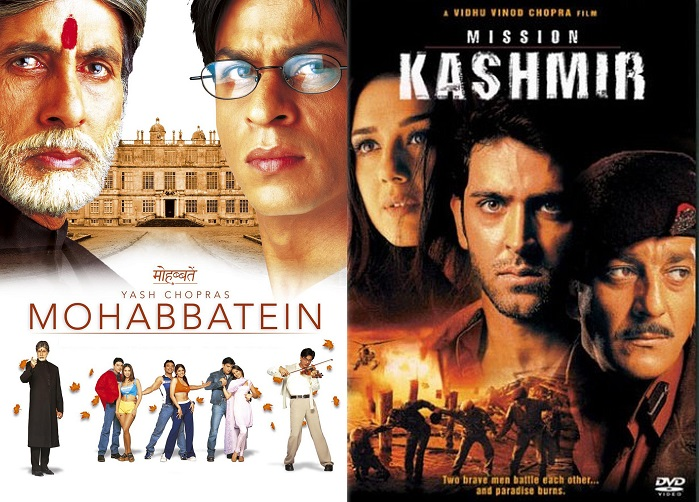 Mohabbatein and Mission Kashmir