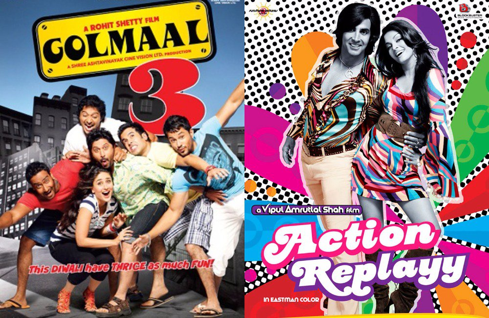 golmaal 3 and Action Replayy
