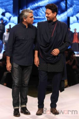Irrfan Khan showstopper at Van Heusen GQ Fashion Nights 2017 Bollyworm (11)