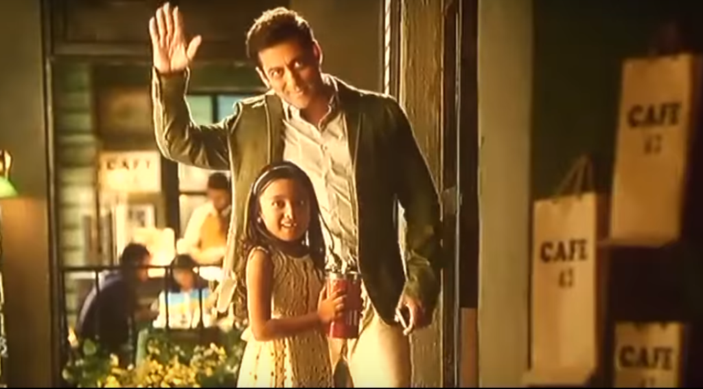 Salman Khan and Diya Kick