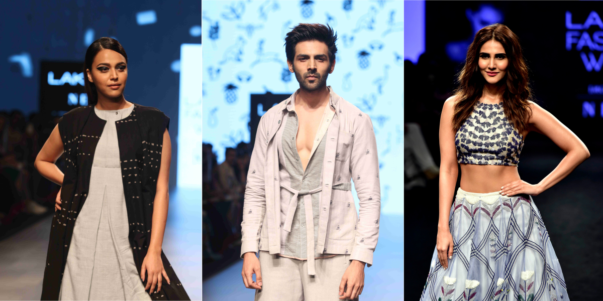 Lakme Fashion Week Kartik Aaryan, Vaani Kapoor and Swara Bhaskar