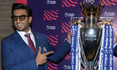 Ranveer Singh at the premier League press meet