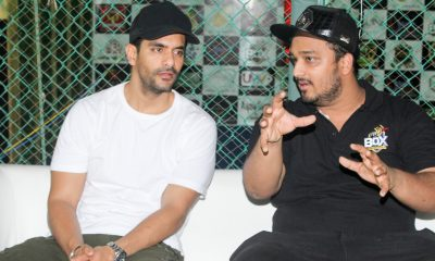 Angad Bedi with Zeeshan Siddique during BOX (Bowl Out Xeries) 2018 IMG_9609