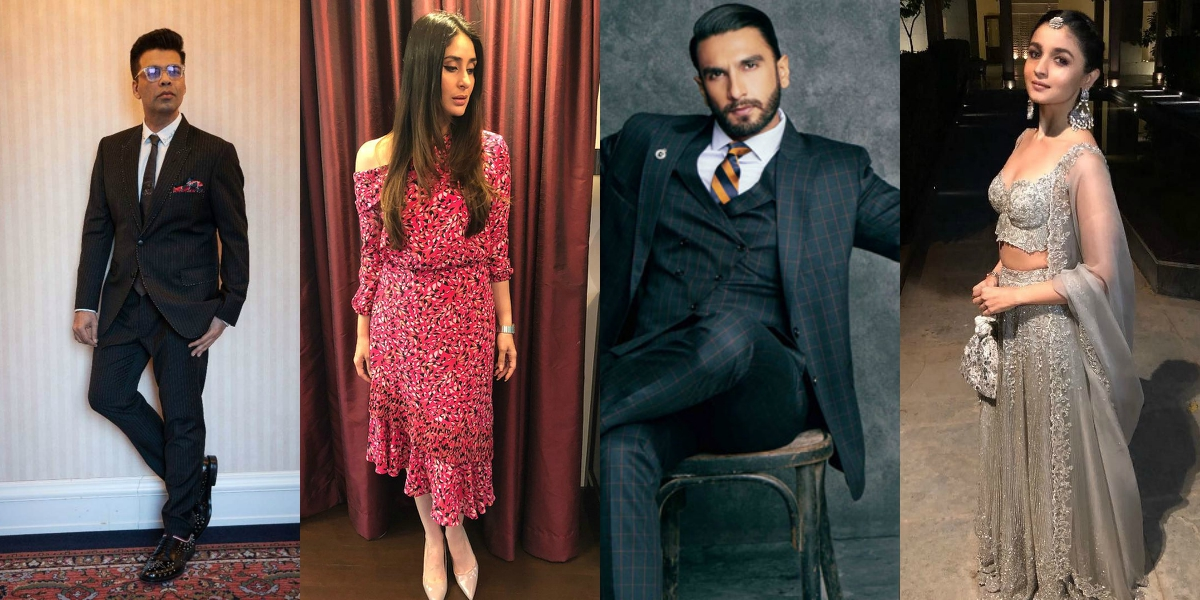 Image result for latest images of karan johar new movie in which ranveer singh , kareenakapoor khan  and alia bhatt play the role